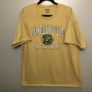 Gear Green Bay packers lambeau field shirt yellow